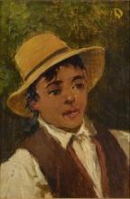 Lorenzo Delleani, Testa di ragazzo (con paglietta)