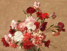 Fantin-Latour, Garofani senza vaso | Oeillets sans vase | Carnations without vase