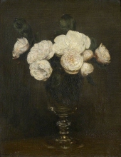 Henri Fantin-Latour, Natura morta: rose Malmaison | Sill life: Malmaison roses