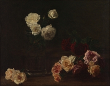 Fantin-Latour, Rose bianche | Roses blanches | White roses | Rosas blancas