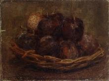 Henri Fantin-Latour, Un cestino di prugne | A basket of plums