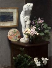 Fantin-Latour, Natura morta con torso e fiori | Nature morte avec torse et fleurs | Still life with torso and flowers