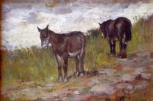 Fattori (attribuito a), Cavallo e asino in sosta.png