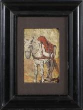 Fattori (attribuito a), Studio di cavallo [cornice].jpg
