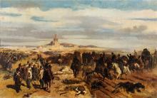 Giovanni Fattori, Assalto alla Madonna della Scoperta [bozzone]