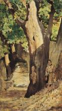 Fattori, Bambina in un bosco.jpg