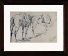 Fattori, Bozzetto per studio di cavalli.jpg