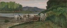 Giovanni Fattori, Buoi in riva all'Arno