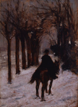 Giovanni Fattori, Carabiniere sulla neve