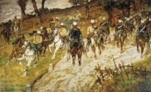 Giovanni Fattori, Cavalcata di soldati nel bosco