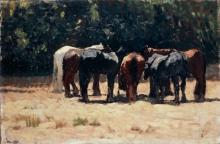 Fattori, Cavalli al sole.jpg