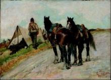 Fattori, Cavalli d'artiglieria.jpg