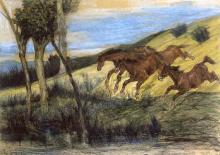 Fattori, Cavalli in fuga.png