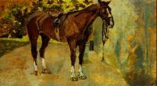 Fattori, Cavallo sellato.jpg