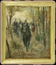 Giovanni Fattori, Dragoni Italiani in perlustrazione [cornice]