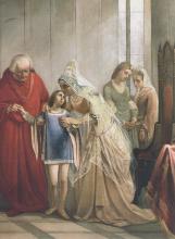 Fattori, Elisabetta regina d'Inghilterra consegna [dettaglio].png