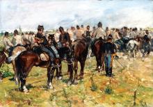 Fattori, Esercizi di cavalleria.png
