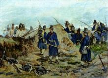 Fattori, Giovanni Del Greco mentre scava una trincea viene sorpreso dagli Austriaci a San Martino.png