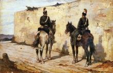 Fattori, Lancieri a cavallo.jpg