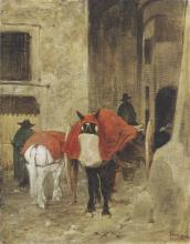 Fattori, Le coperte rosse.png