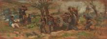 Giovanni Fattori, Manovre d'artiglieria