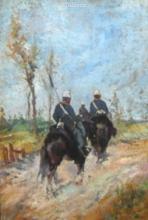 Fattori, Militari a cavallo.jpg