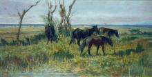 Fattori, Pascolo di cavalli.png
