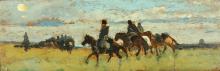 Fattori, Pattuglia di cavalleria in marcia.png