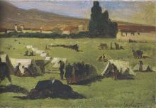 Fattori, Soldati francesi alle Cascine [dettaglio 2].png