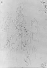 Giovanni Fattori, Soldato a cavallo