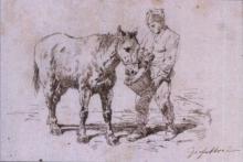 Fattori, Soldato che abbevera il cavallo.jpg
