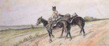 Fattori, Soldato che conduce cavalli.png