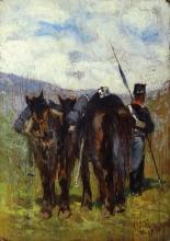Fattori, Soldato con due cavalli.jpg