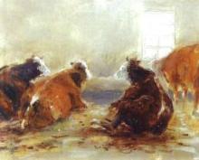 Fattori, Studio d'interno di stalla con mucche.jpg