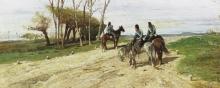 Fattori, Tre cavalleggeri su una strada.jpg