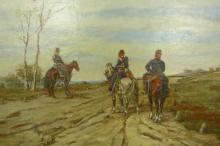 Fattori, Tre soldati a cavallo [dettaglio 1].jpg
