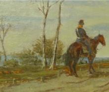 Fattori, Tre soldati a cavallo [dettaglio 3].png