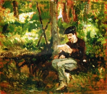 Fattori, Uomo che legge nel bosco.jpg