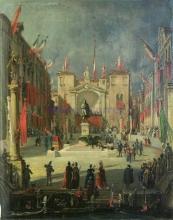 Giacomo Favretto (attribuito a), Inaugurazione del monumento a Daniele Manin