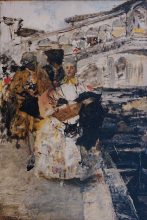 Giacomo Favretto, Al ponte di Rialto