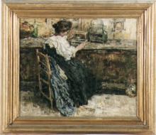 Giacomo Favretto, Figura femminile seduta