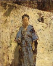 Giacomo Favretto, Il kimono azzurro