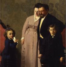 Giacomo  Favretto, La famiglia Guidini [dettaglio]