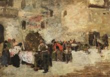 Giacomo Favretto, La festa della frittola