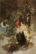 Giacomo Favretto, Mercato dei fiori