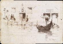 Giacomo Favretto, Motivo veneziano con gondoliere