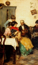 Giacomo Favretto, Musica in famiglia