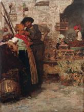 Giacomo Favretto, Venditore d'uccelli