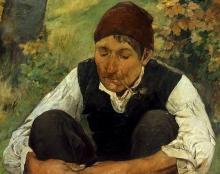 Egisto Ferroni, Il boscaiolo [dettaglio]