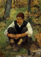 Egisto Ferroni, Il boscaiolo